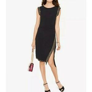 Michael Kors Little Black Dress w/gold studs